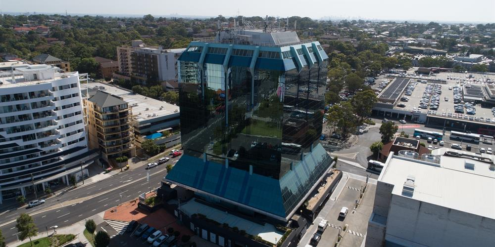 Aerial Photo of the Civic Tower in Bankstown