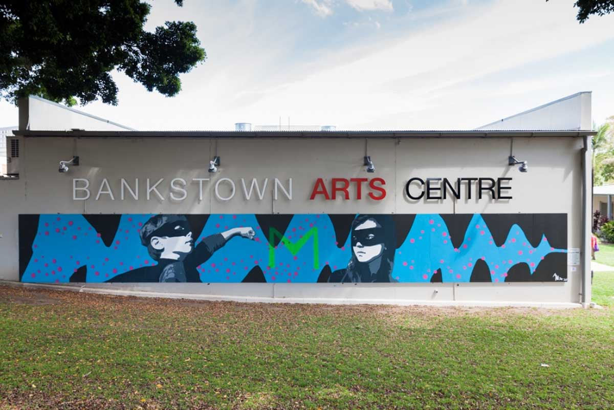 Photo of the exterior of the Bankstown Arts Centre