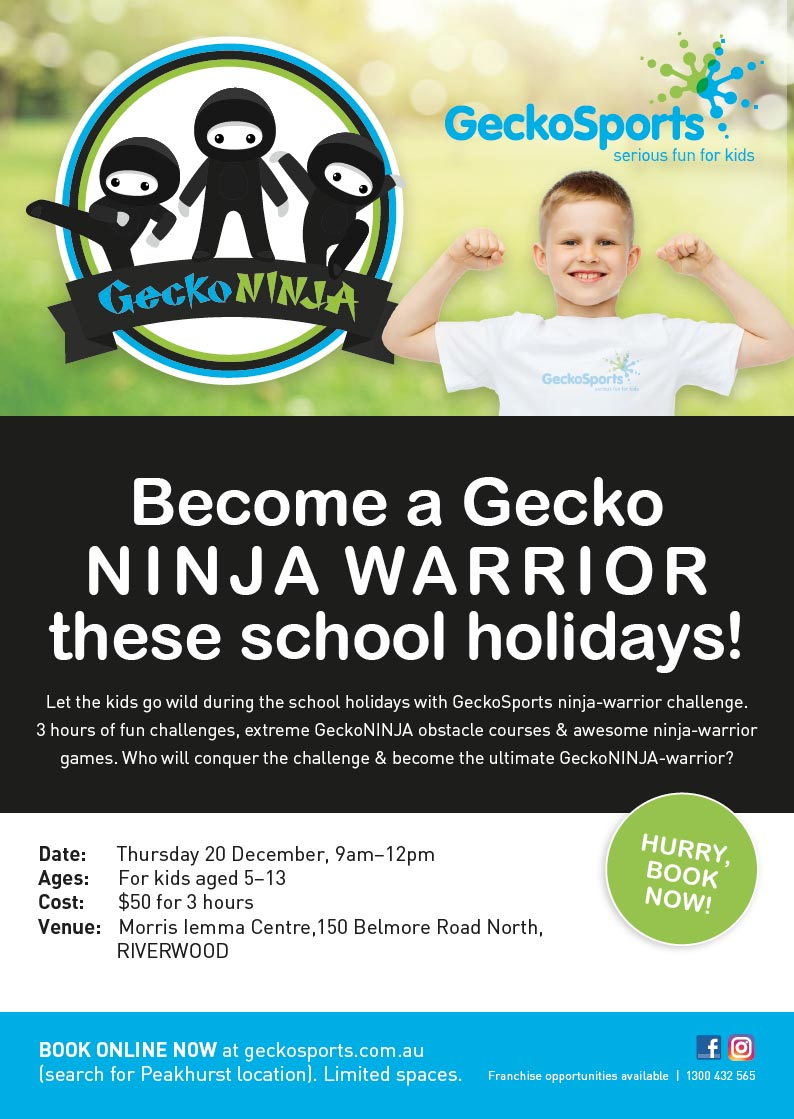 Poster for School Holiday Gecko Program