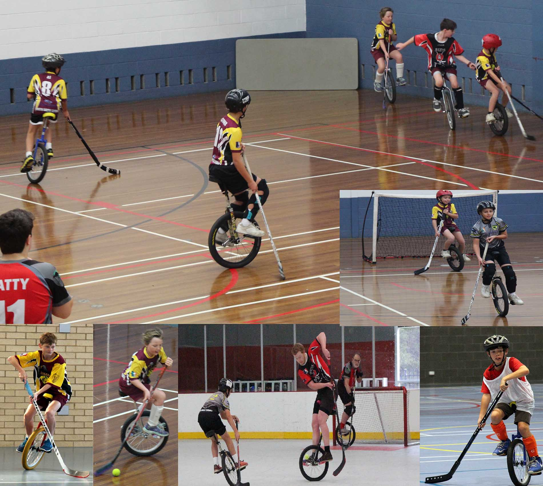 Photo of unicycle hockey