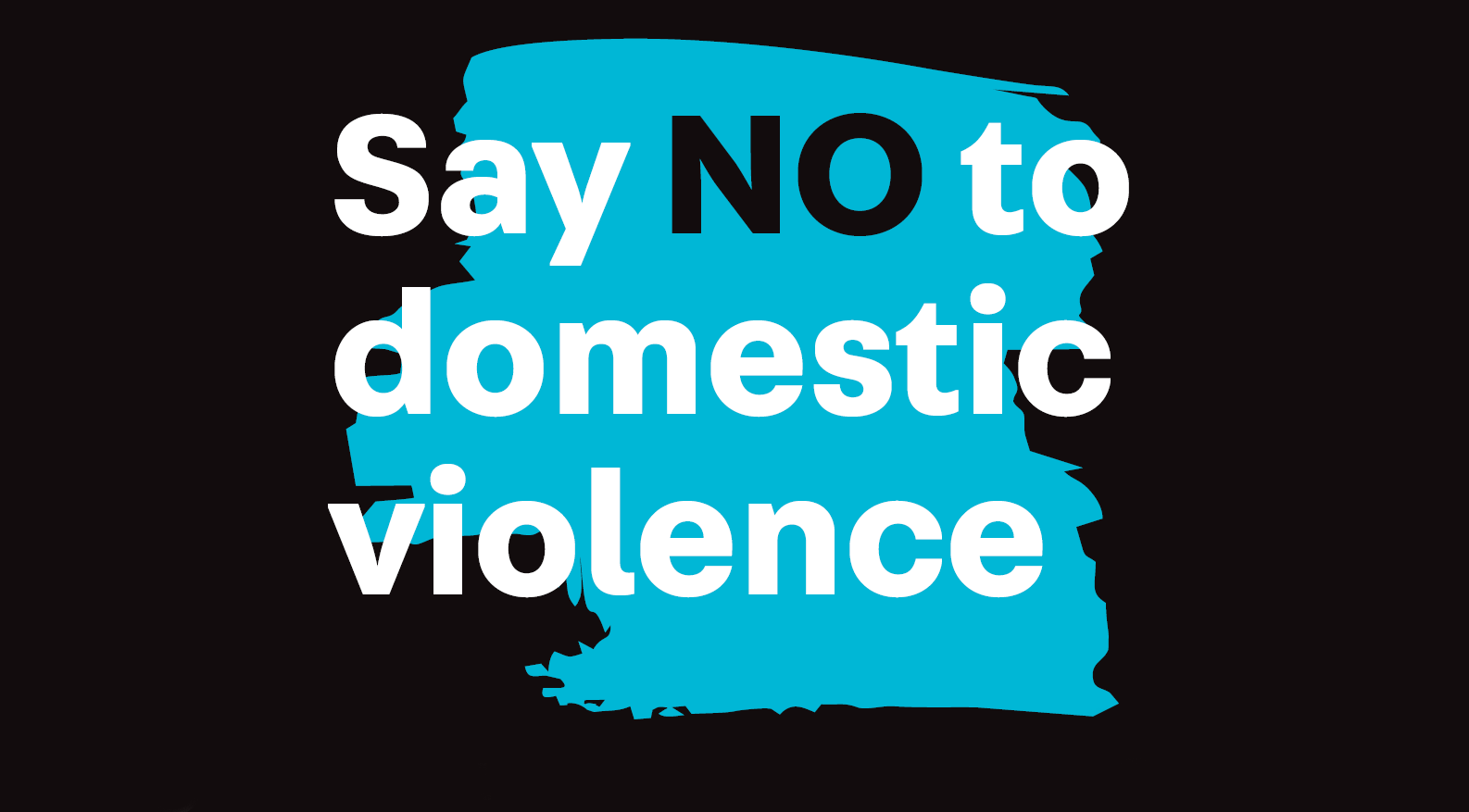 Say no to domestic violence poster