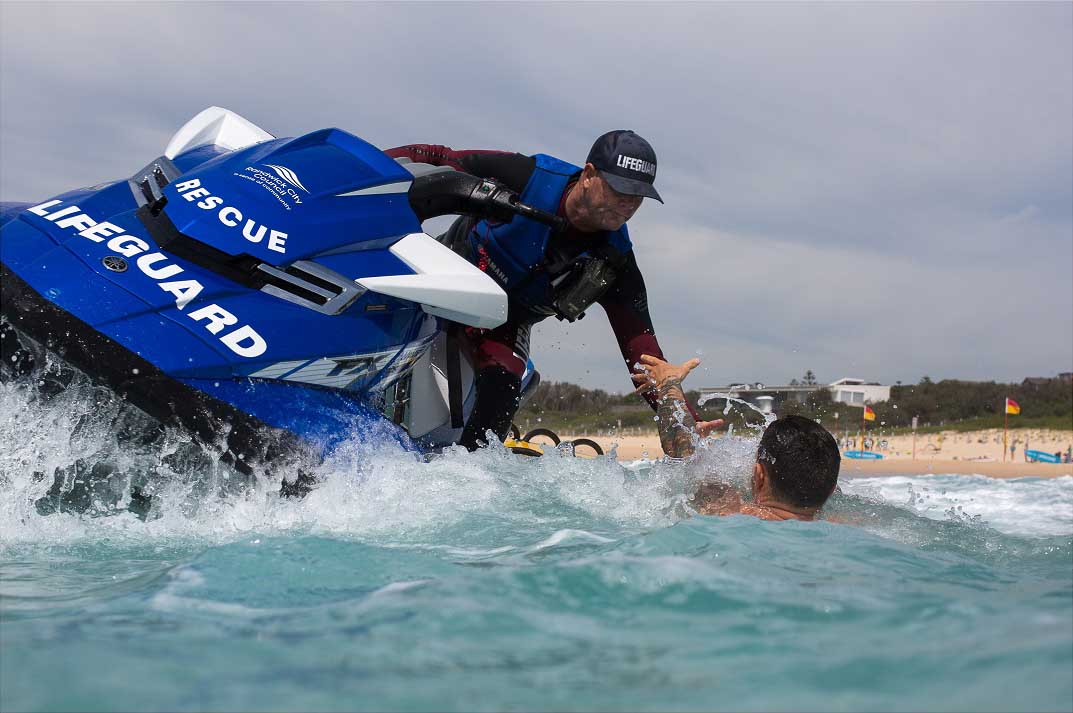 Surf life saver on jetski