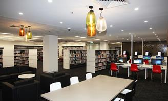 Photo of the interior of Campsie Library