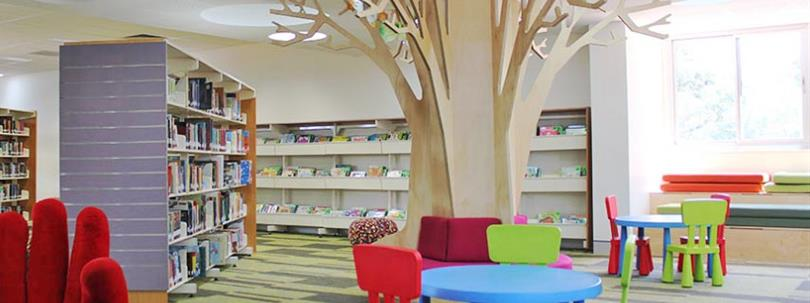 Photo of the interior of Chester Hill Library