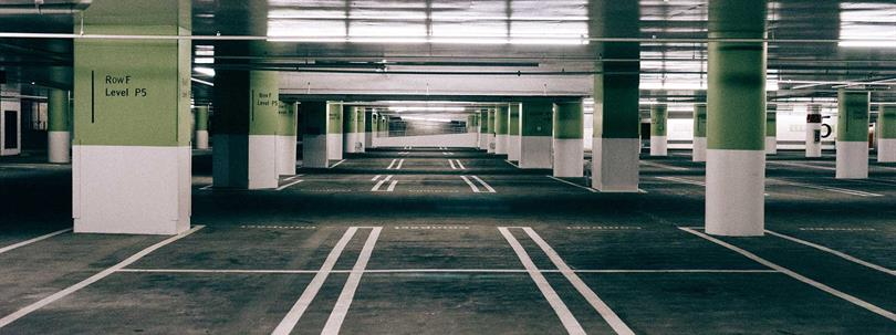 Photo of a car park