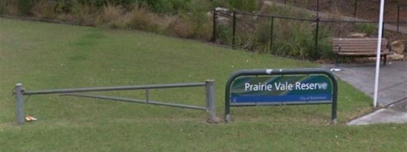 Photo of entrance of Prairie Vale Reserve