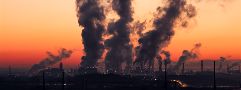 Photo of factories emitting air pollution