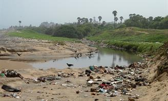 Photo of a polluted waterway