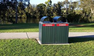 Photo of two Rubbish Bins