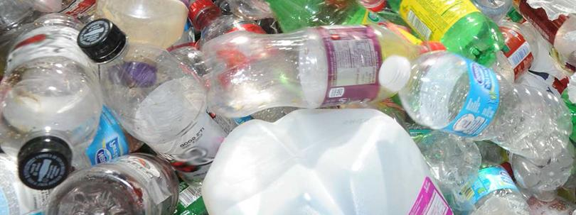 Photo of recyclable plastics