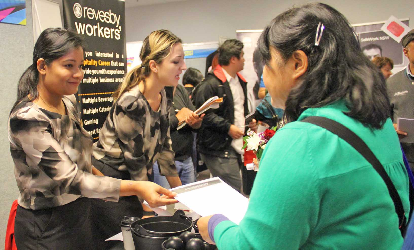 Job seekers attending Jobs and Skills Expo