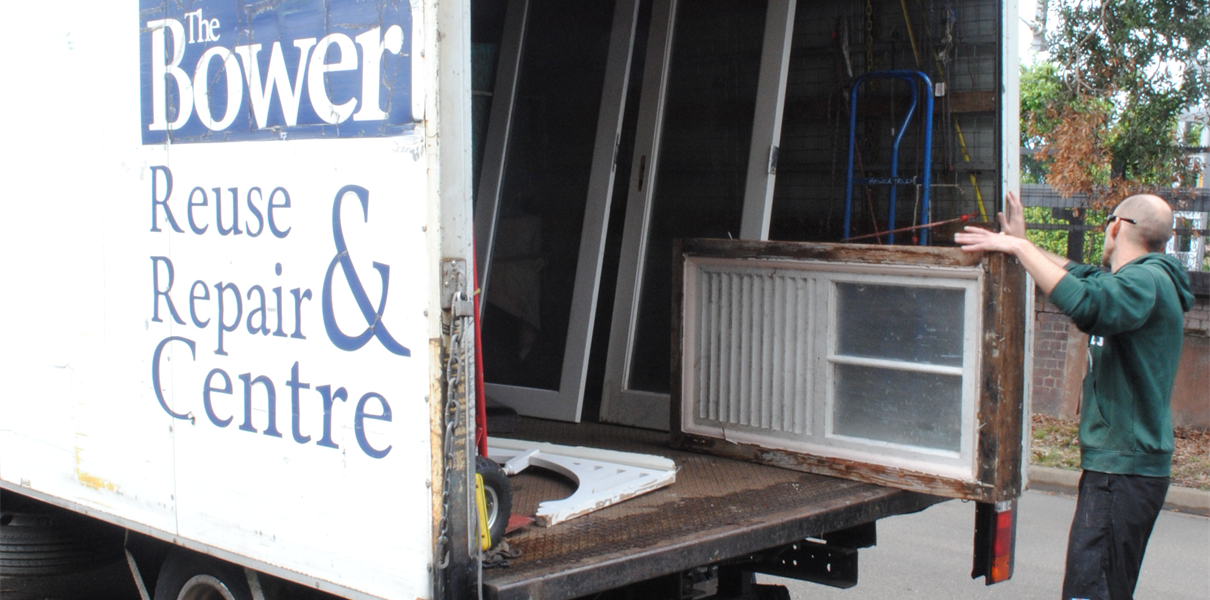 The Bower reuse and repair centre removal truck