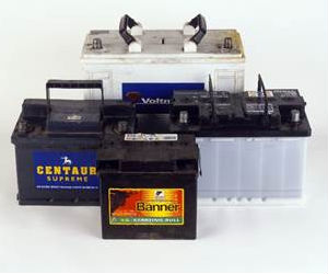 Photo of car batteries
