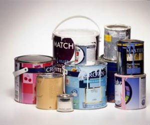 Photo of tins of paint