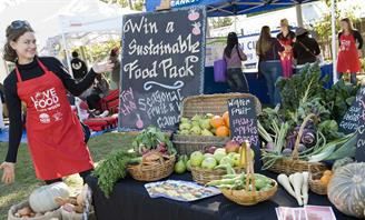 Photo of woman with sustainable food