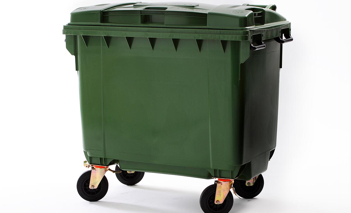 Photo of a commercial waste bin